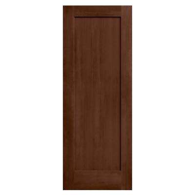 24 in. x 80 in. Madison Milk Chocolate Stain Solid Core Molded Composite MDF Interior Door Slab