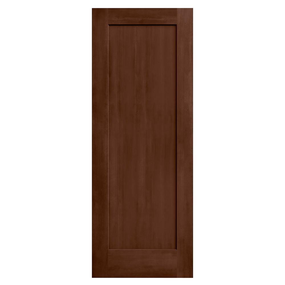 Jeld wen 28 in x 80 in madison milk chocolate stain solid core molded composite mdf interior for Solid core interior doors soundproof