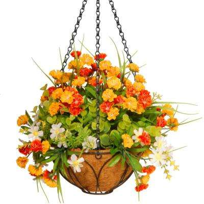 13 in. Lilac Hanging Basket