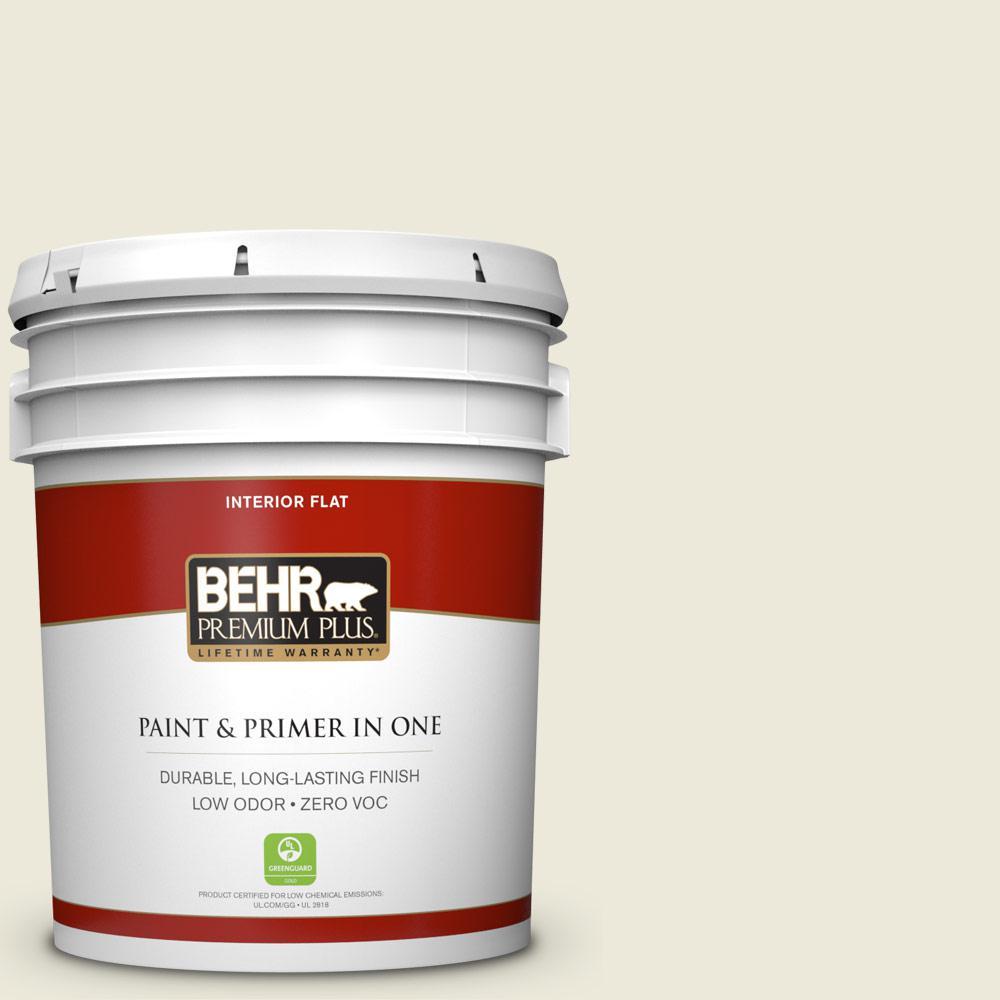 BEHR Premium Plus Home Decorators Collection 5-gal. #HDC-CT-27 Swiss Cream Zero VOC Flat Interior Paint