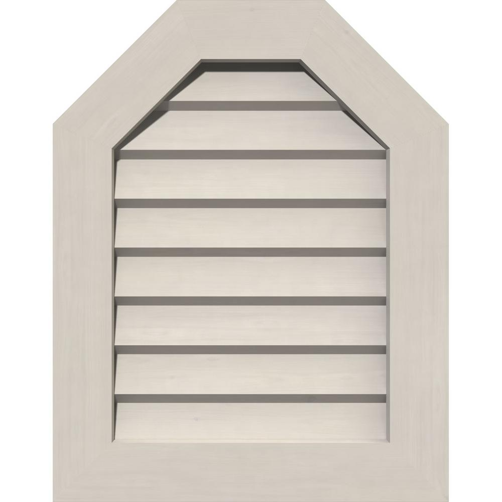 Ekena Millwork 17 In X 17 In Octagon Primed Smooth Pine Wood Paintable Gable Louver Vent Gvwot12x1802sdppi The Home Depot