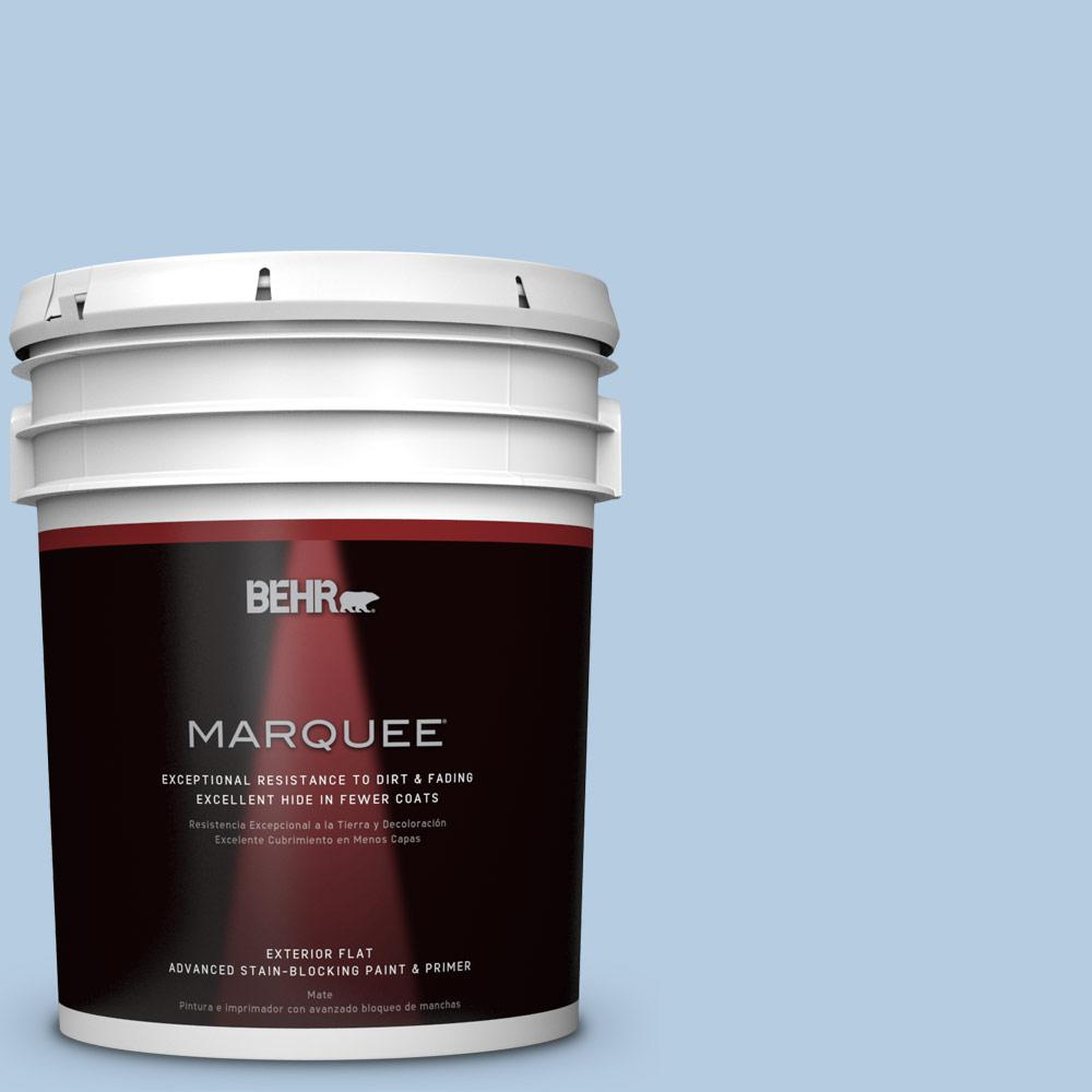 5-gal. #PPU14-14 Crystal Waters Flat Exterior Paint