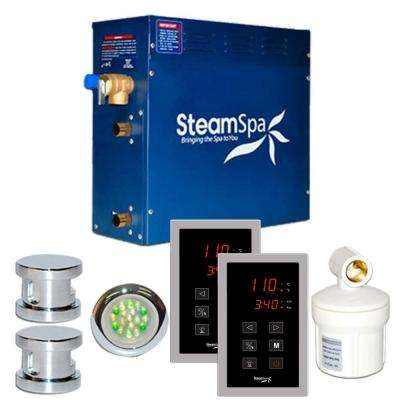 Royal 12kW Touch Pad Steam Bath Generator Package in Chrome