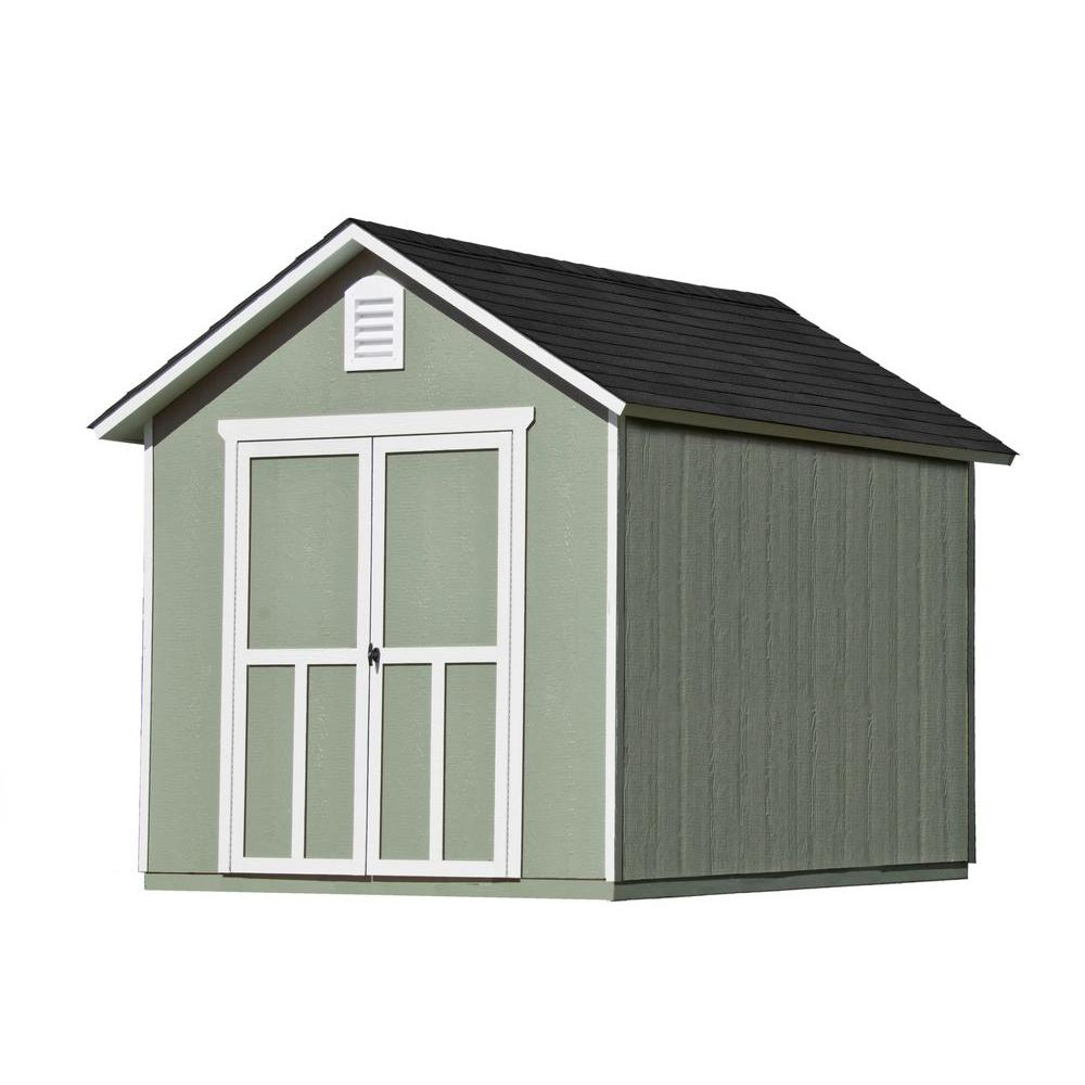 Handy Home Products Meridian 8 Ft. X 10 Ft. Wood Storage Shed