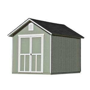 Handy Home Products Meridian 8 Ft X 10 Ft Wood Storage