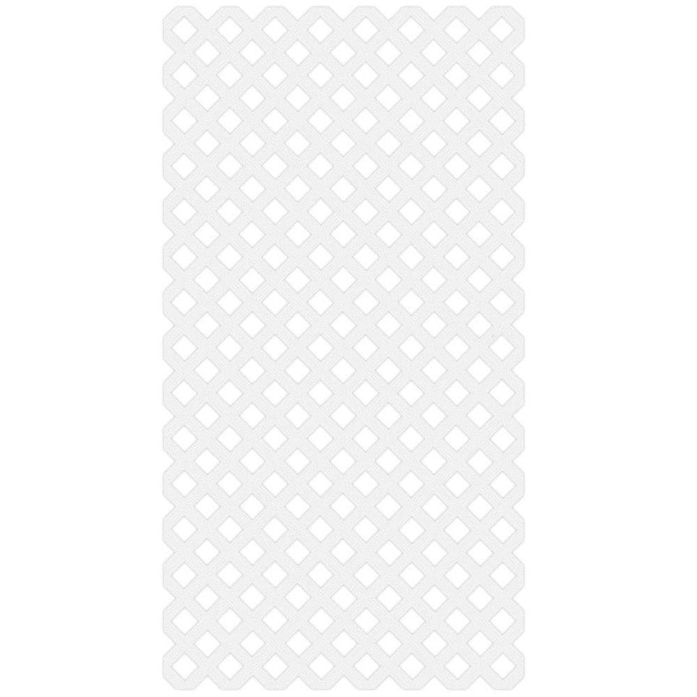 Veranda 0.2 in. x 48 in. x 8 ft. White Vinyl Classic Diamond ...
