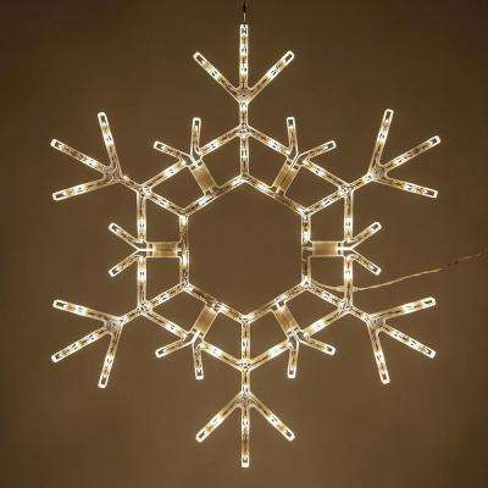 36 in. 105-Light LED Warm White Folding Snowflake Decoration