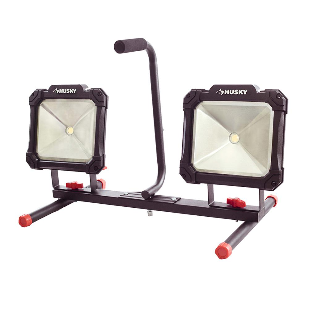 Portable Work Lights Led Worklight Stand Tripod Flood Twin
