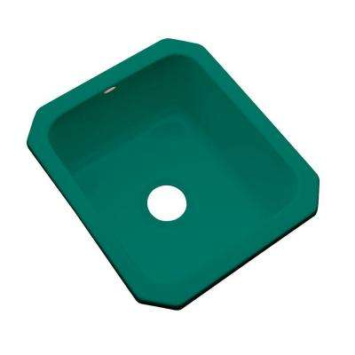 Crisfield Undermount Acrylic 17 in. Single Bowl Entertainment Sink in Verde