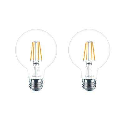 60-Watt Equivalent G25 Dimmable LED Light Bulb Daylight Globe (2-Pack)