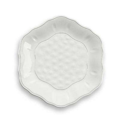 Savino White Salad Plate (Set of 6)