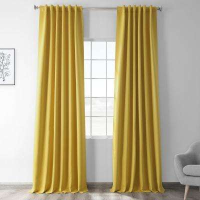Solarium Yellow Blackout Room Darkening Curtain - 50 in. W x 96 in. L