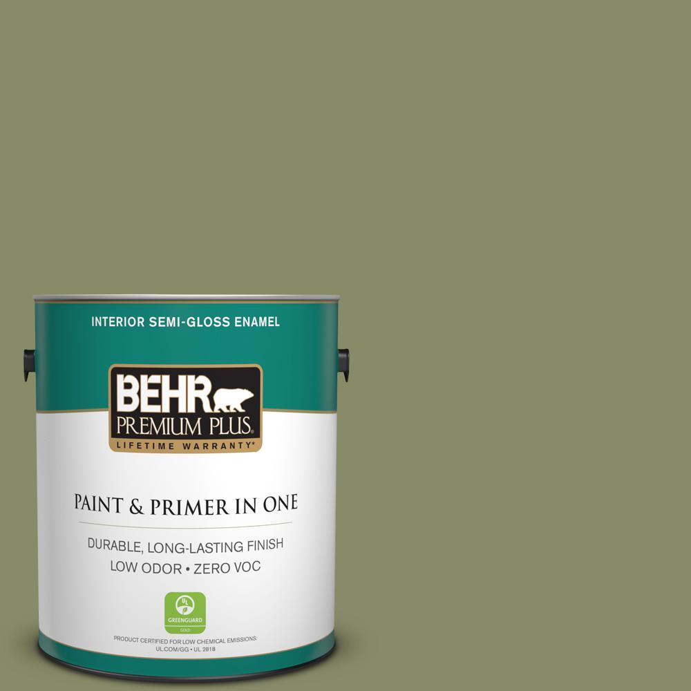 BEHR Premium Plus 1-gal. #S360-5 Yogi Semi-Gloss Enamel Interior Paint
