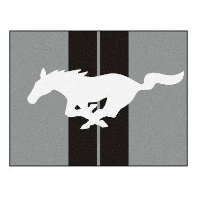 Ford Mustang Horse Gray 3 ft. x 3 ft. 6 in. Indoor Accent Rug