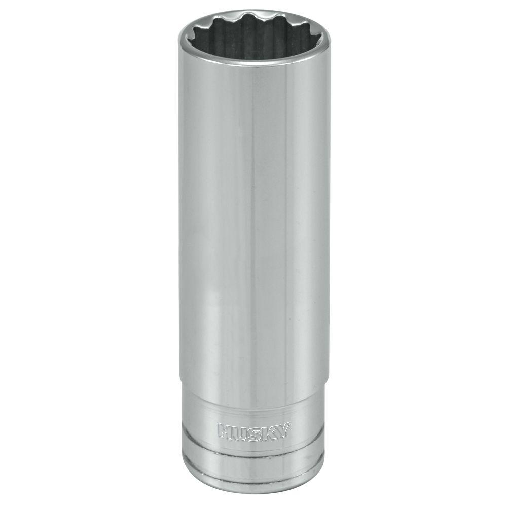 Husky 1/2 in. Drive 11/16 in. 12-Point SAE Deep Socket