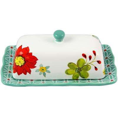 Daisie 4.5 in. 2-Piece Assorted Colors Butter Dish