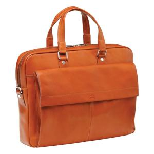 Slim Cognac Briefcase for 12 inch Laptop/Tablet by