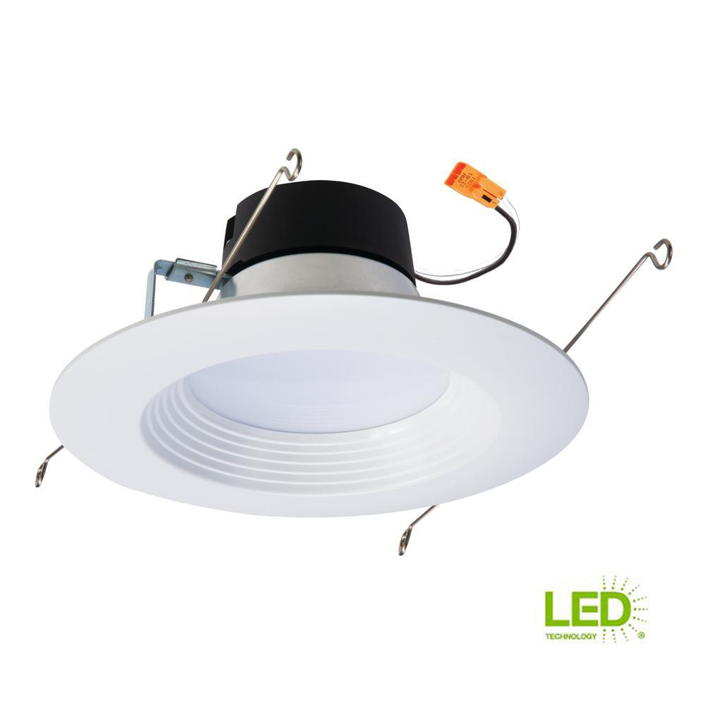 Halo Lt 5 In And 6 In White Integrated Led Recessed Ceiling Light