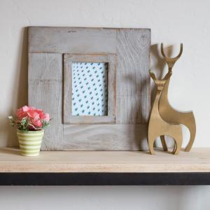 5 inch x 7 inch Wood Frame Gray Picture Frame by