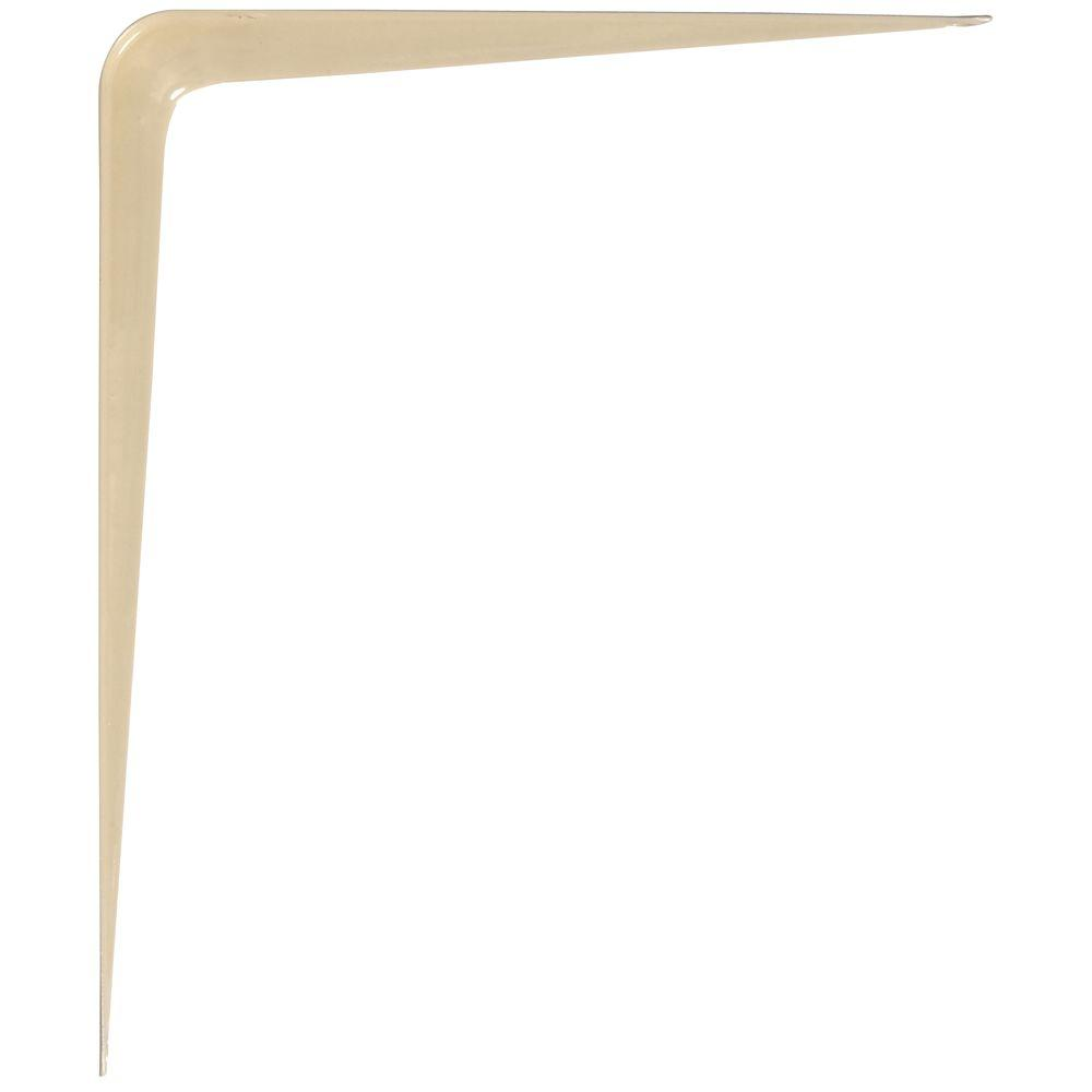 Hardware Essentials 8 in. x 10 in. Almond Shelf Bracket (20-Pack)