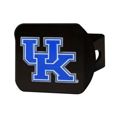 NCAA University of Kentucky Color Emblem on Black Hitch Cover