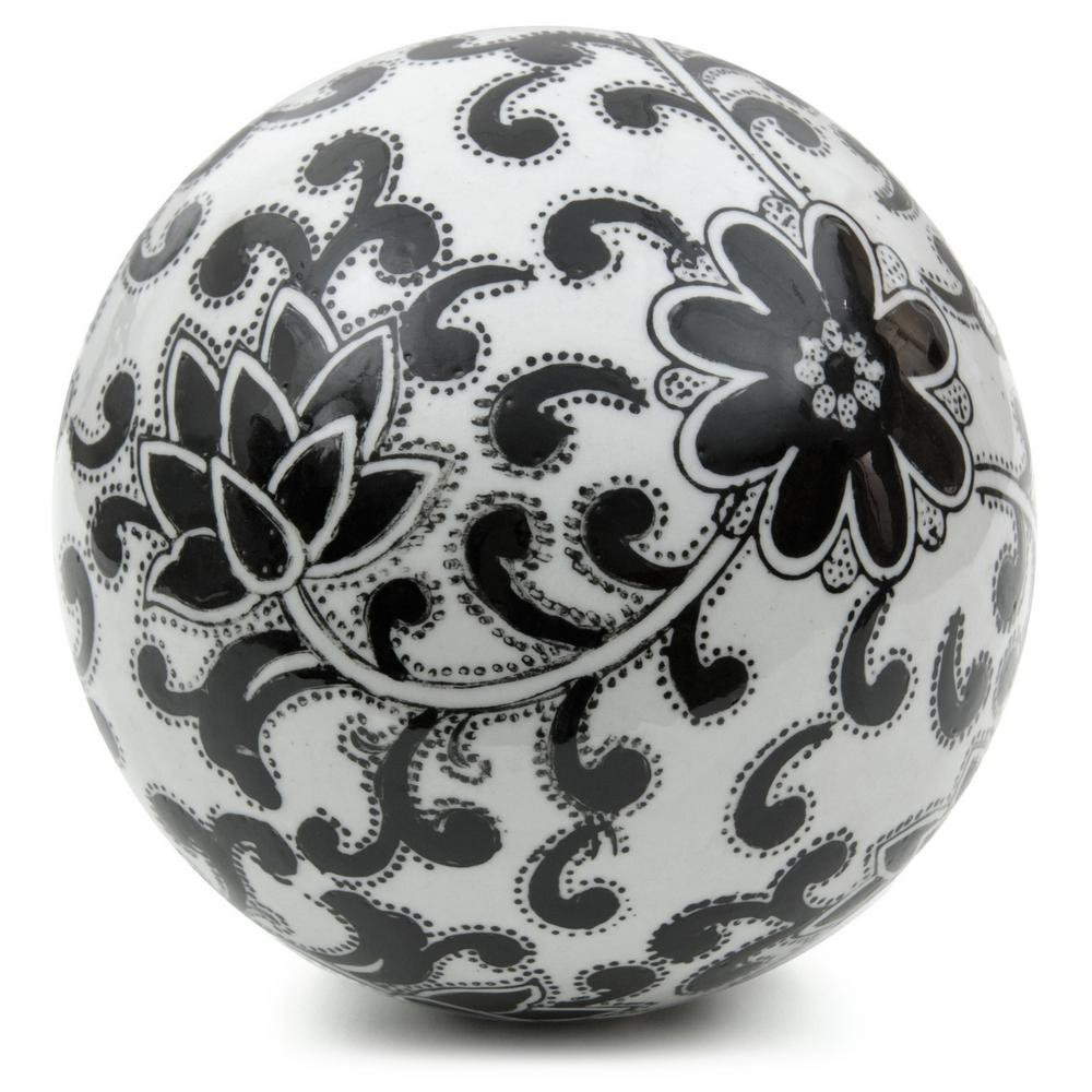 Oriental Furniture 6 In Decorative Porcelain Ball White With
