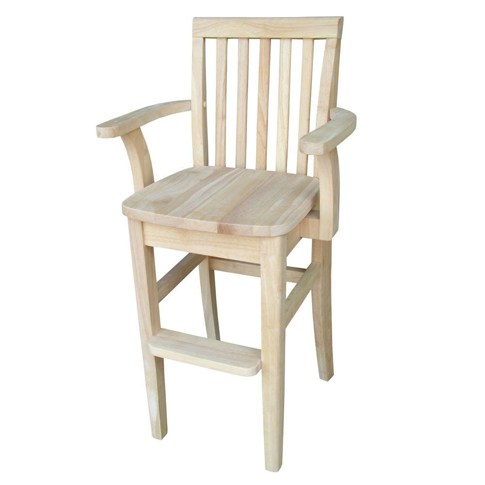 International Concepts Big Kid High Chair Unfinished