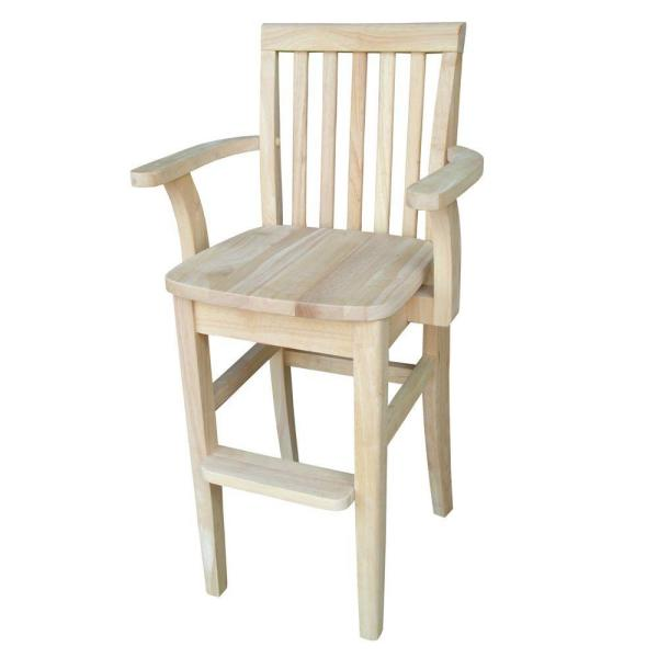 International Concepts Unfinished Big Kid High Chair