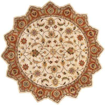 Morsse Golden Beige 8 ft. x 8 ft. Star Area Rug