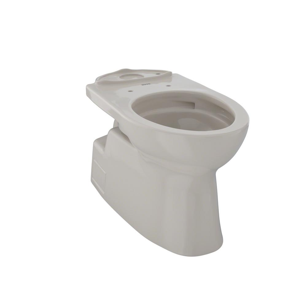 toto vespin ii elongated toilet bowl only with cefiontect in bone ct474cufg 03 the home depot. Black Bedroom Furniture Sets. Home Design Ideas