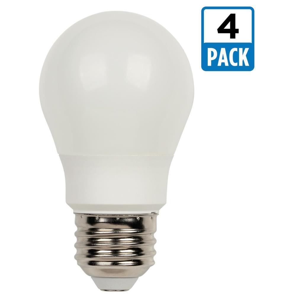 40W Equivalent Soft White A15 LED Light Bulb (4-Pack)