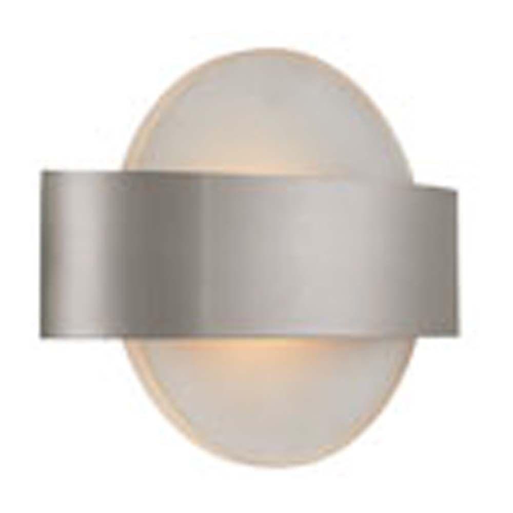 Filament Design Spectra 1-Light Matte Satin Nickel LED Sconce