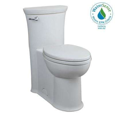 Tropic Tall Height 1-piece 1.28 GPF Single Flush Elongated Toilet in White