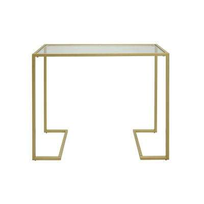 Monaco Gold Glass Top Console