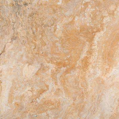 Trav Chiseled Scabos 16 in. x 16 in. Travertine Floor and Wall Tile