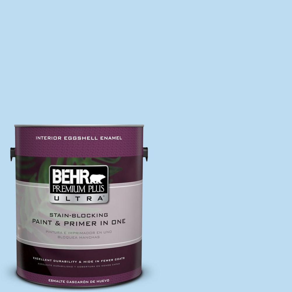 BEHR Premium Plus Ultra 1-gal. #P510-1 Greek Isles Eggshell Enamel Interior Paint