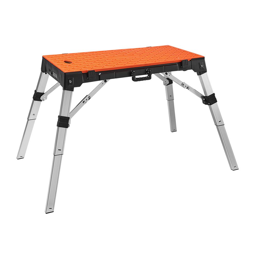 Gladiator 6 Ft Hardwood Top Adjustable Height Workbench In Hammered Granite Gawb06hweg The