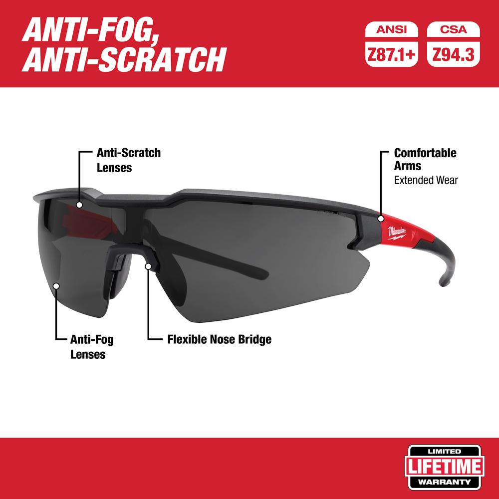 Milwaukee Safety Glasses with Tinted Lenses (3-Pack)-48-73-2051 ...