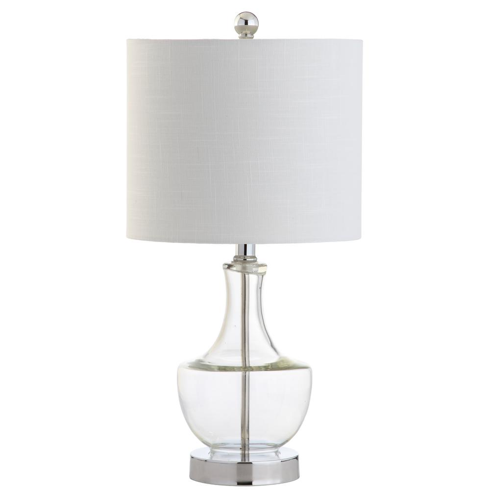 Jonathan y colette 20 in clear mini glass table lamp jyl1029a the clear mini glass table lamp aloadofball Gallery