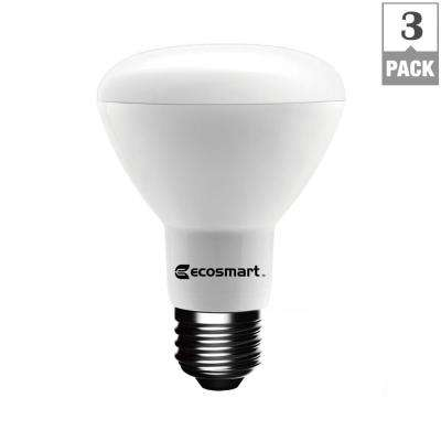 50W Equivalent Soft White BR20 Dimmable LED Light Bulb (3-Pack)