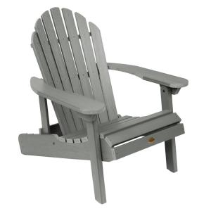 Hamilton Coastal Teak Folding and Reclining Plastic Adirondack Chair
