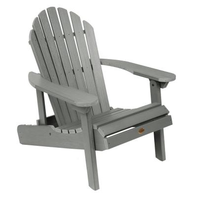 Aeanm Adirondack Chair Classic Folding and Reclining Adirondack Chair with Adjustable Backrest for Patio Deck Garden 250-Pound Capacity Black Backyard /& Lawn Furniture