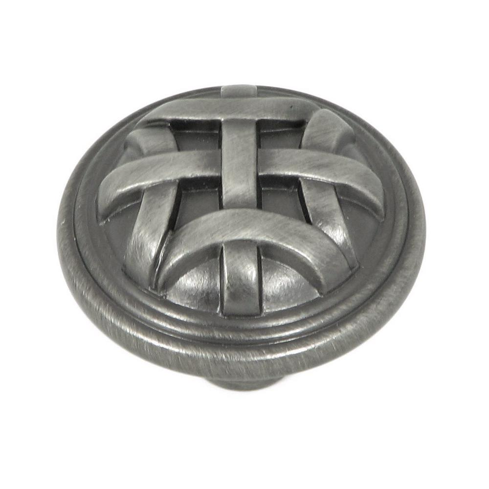 Stone Mill Cross Flory 1-1/4 in. Weathered Nickel Round C...