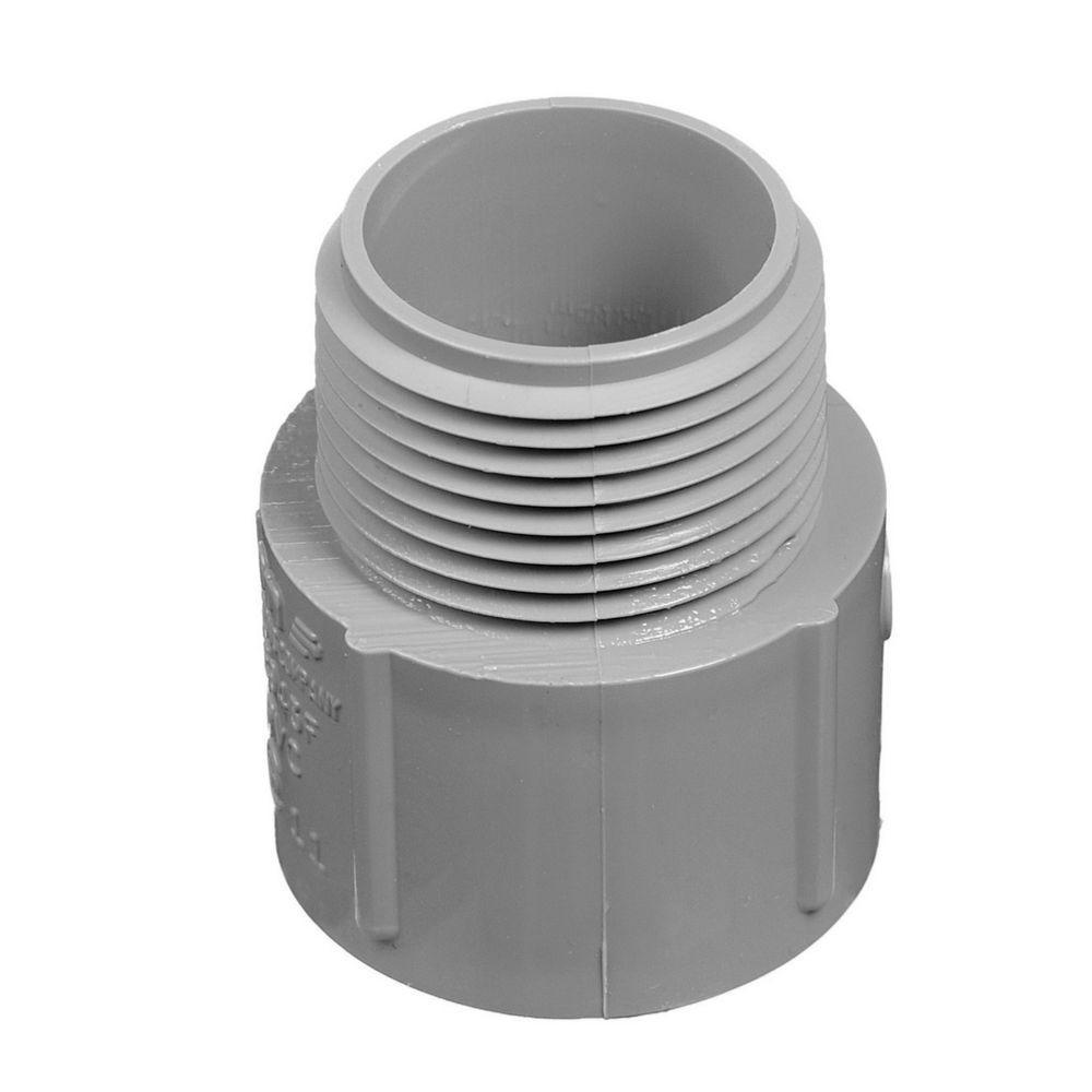2-1/2 in. Terminal Adapter - Non-Metallic (Case of 6)