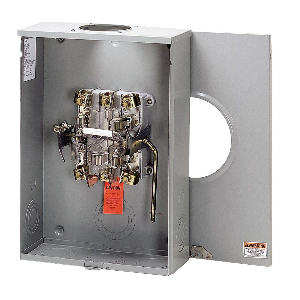 Amp Electrical Meters : Eaton amp overhead underground meter socket uth tch