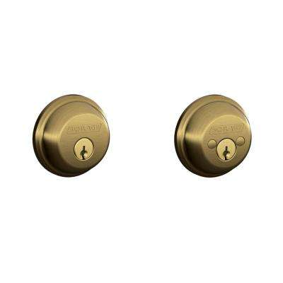 Antique Brass Double Cylinder Deadbolt