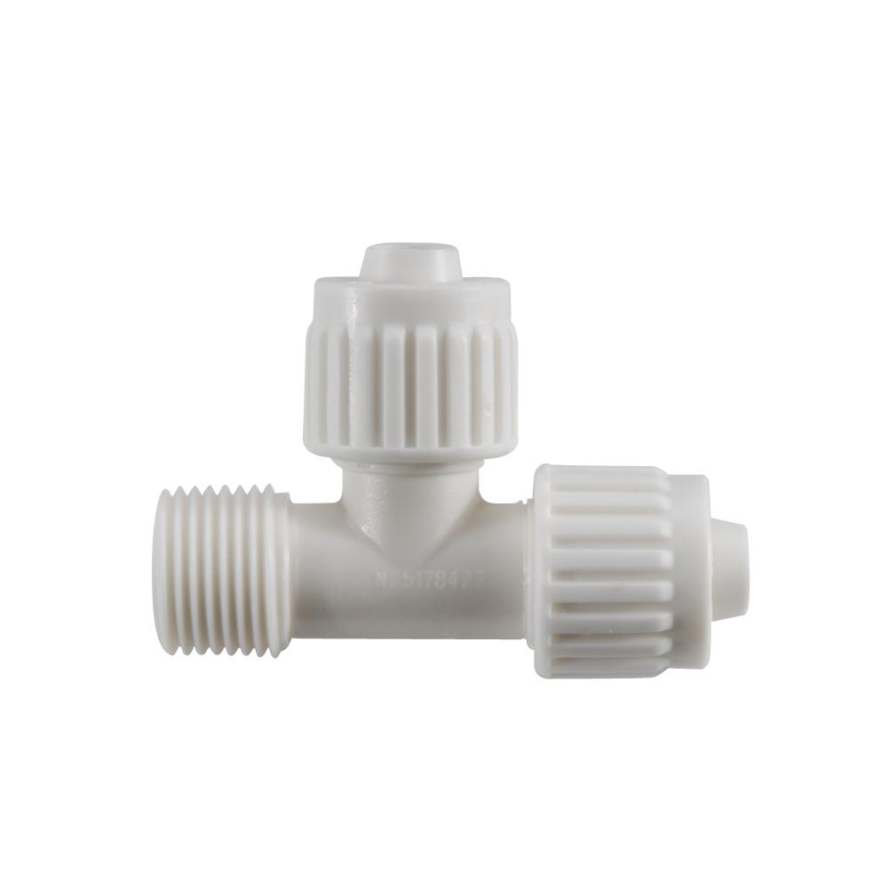 """manifold tee fitting Plastic water pipe swivel fits 1/"""" bspt thread 2 pack"""