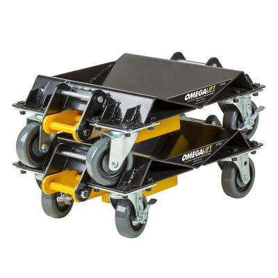 Heavy-Duty 2000 lbs. 3-in-1 Car Dolly Set Pair
