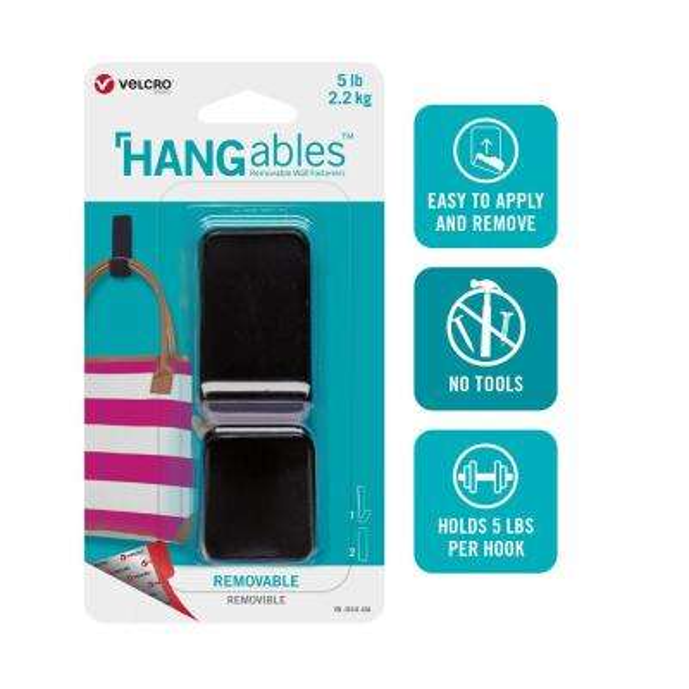 HANGables Large Removable Hook in Black