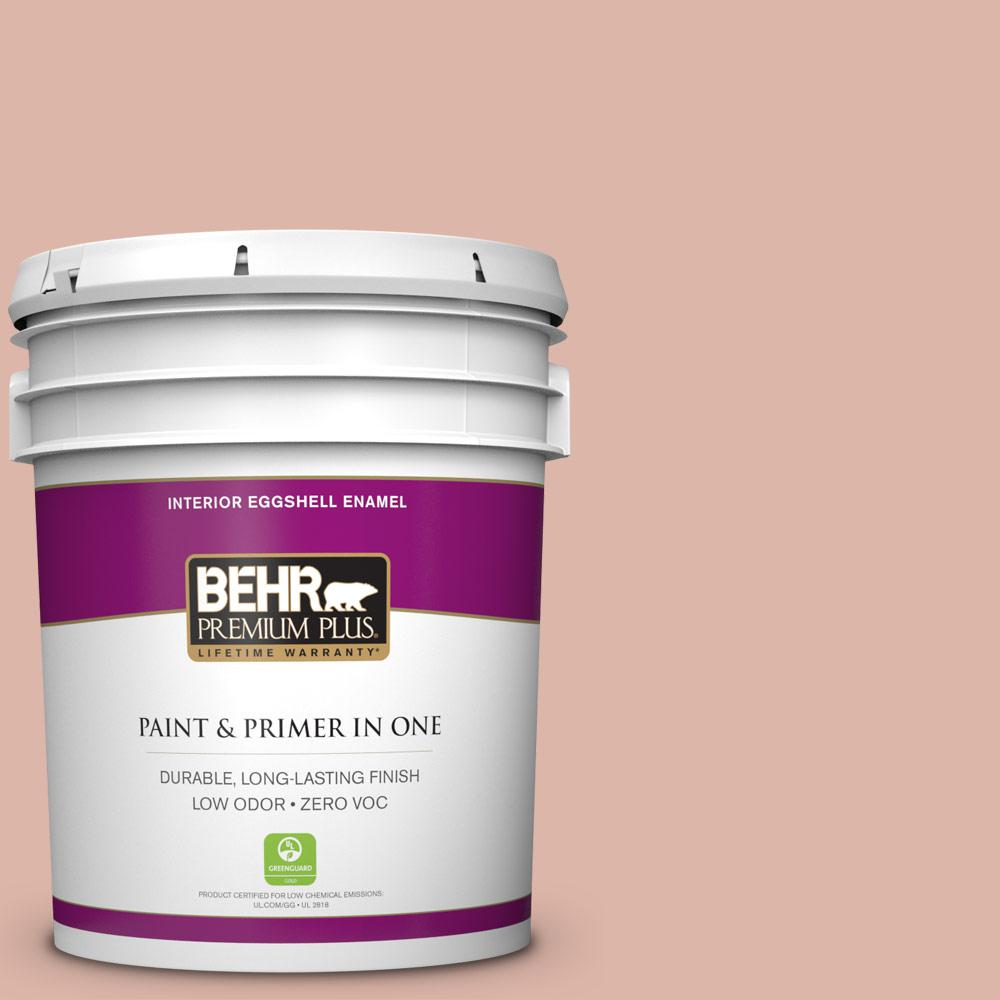 BEHR Premium Plus 5-gal. #220E-3 Melted Ice Cream Zero VOC Eggshell Enamel Interior Paint